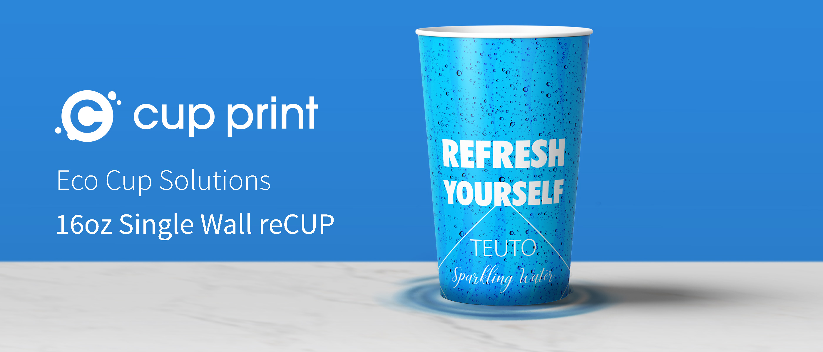 reCUP Single Wall 16oz water cup