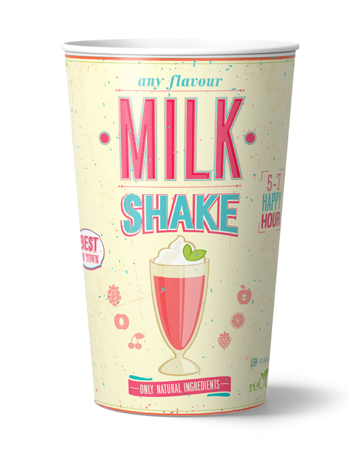 recup singlewall milkshake cup