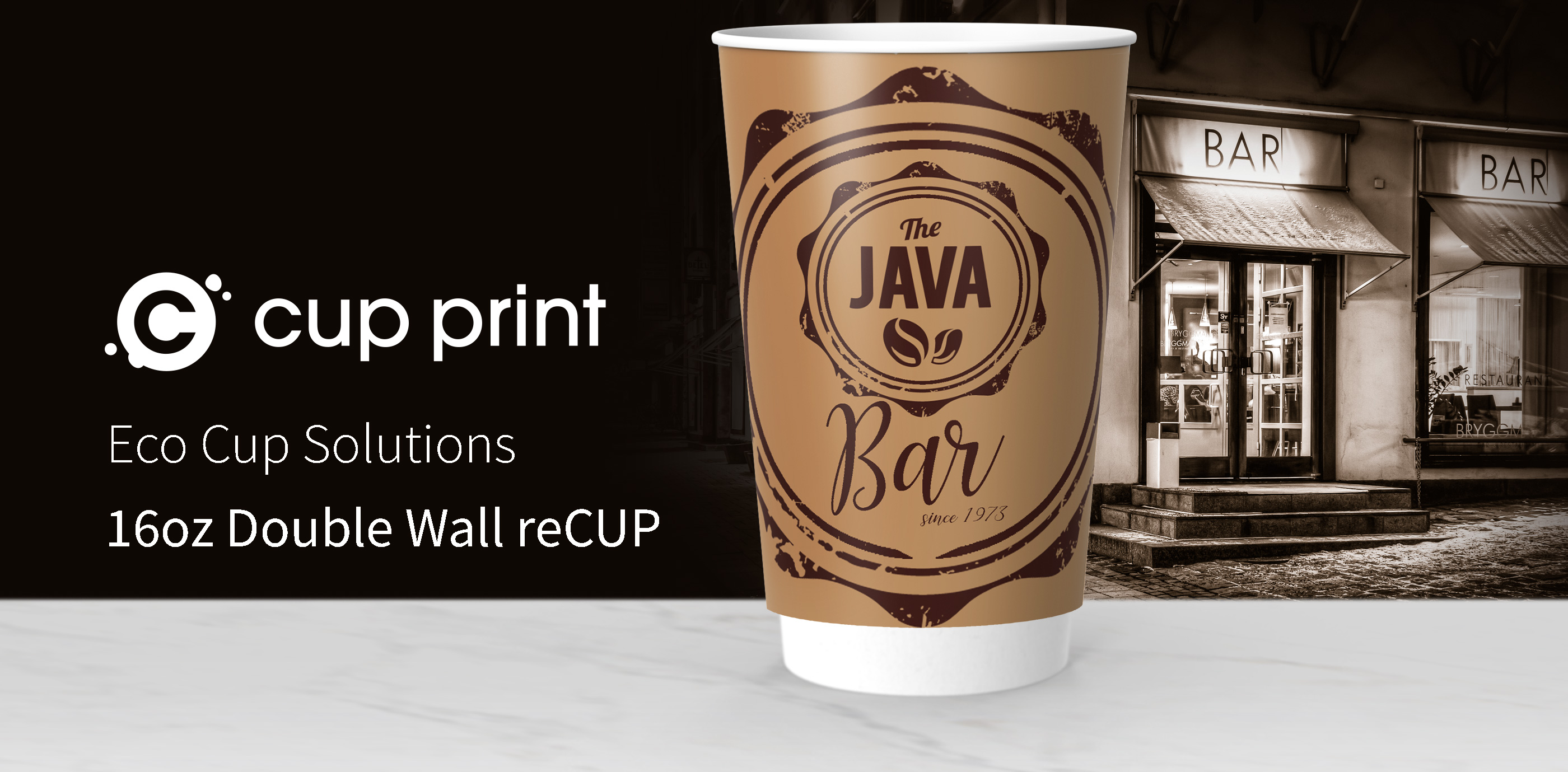Cupprint reCUP double Wall 16oz Coffee Cup