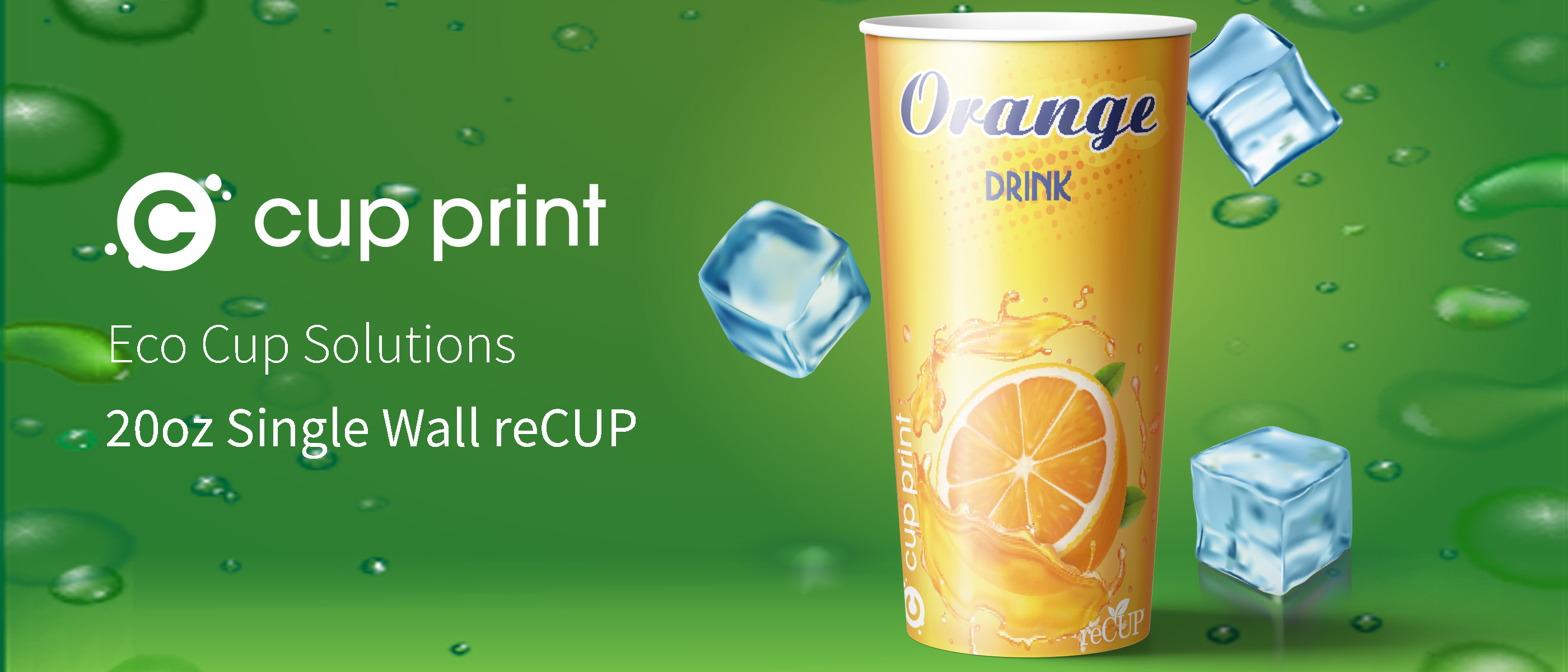 Cupprint reCUP Single Wall 20oz