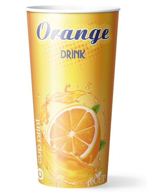 Cupprint reCUP Single Wall 20oz Orangejuice