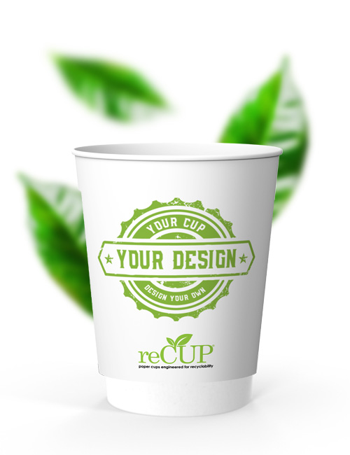 reCUP Double Wall 12oz sustainable coffee cups