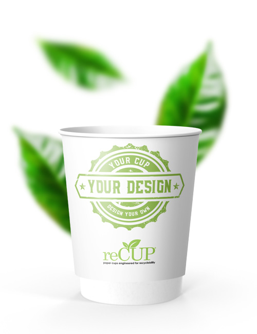reCUP Double Wall 8oz sustainable coffee cups