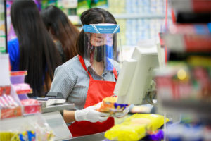 face shield for retail workers
