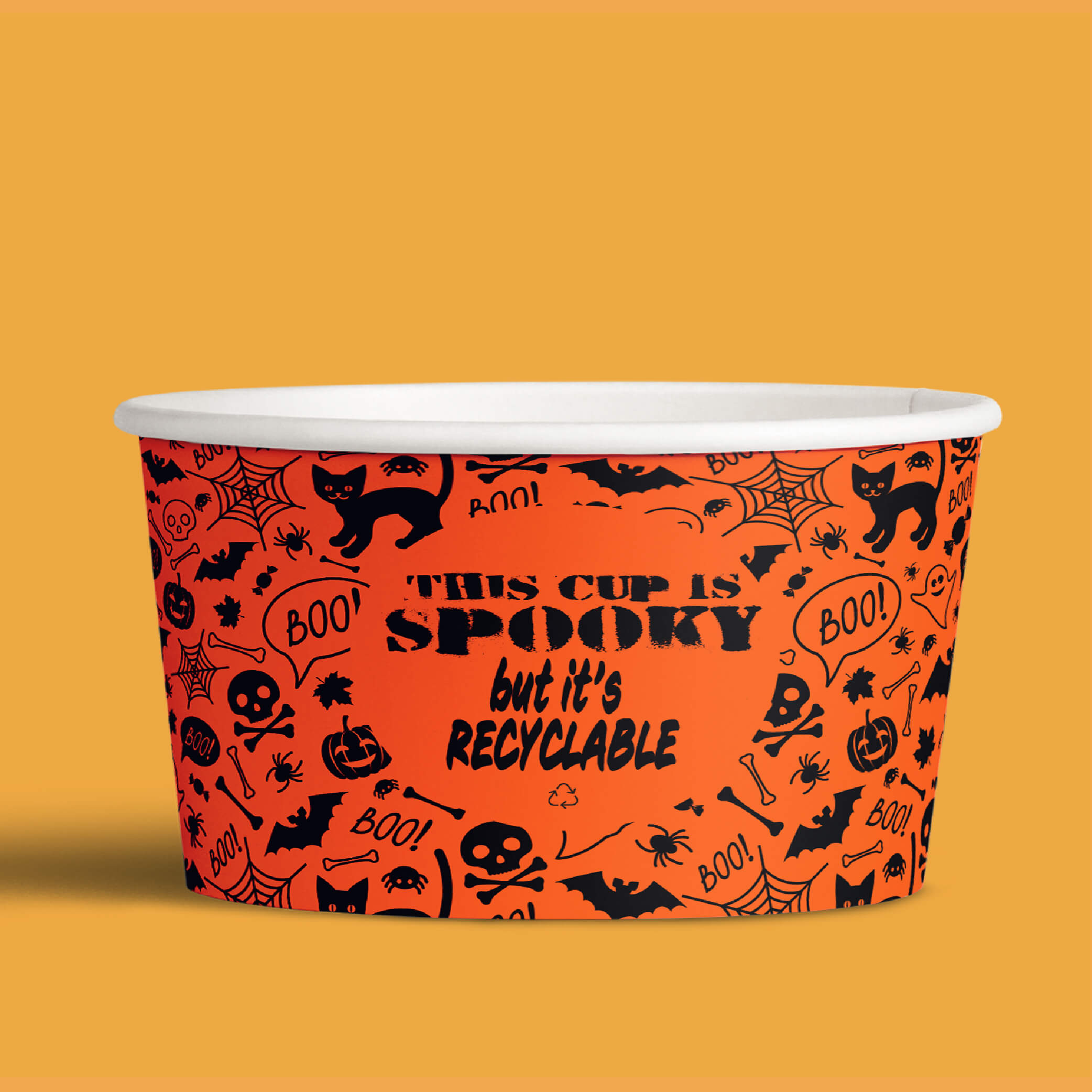 image of halloween recyclable custom paper cup