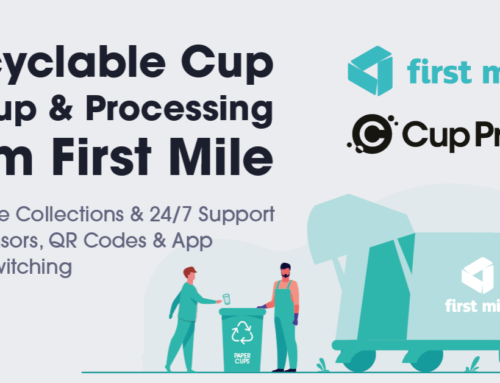 Cup Print Partner with First Mile for Recyclable Paper Cup Pickup and Processing