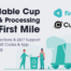 image about paper coffee cup recycling pickup scheme from cup print and first mile waste processor